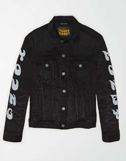 AE X Young Money Black Denim Jacket