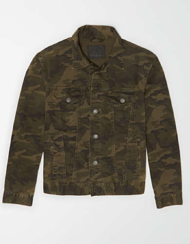 AE Camo Denim Jacket