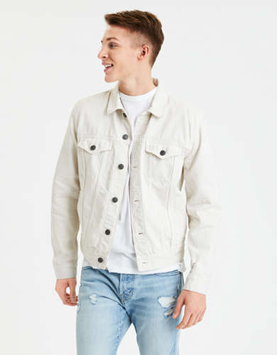 AE Cream Denim Jacket