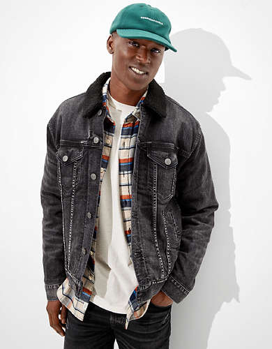 AE Sherpa Lined Denim Jacket