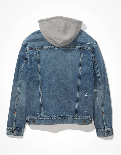 AE Hooded Denim Trucker Jacket