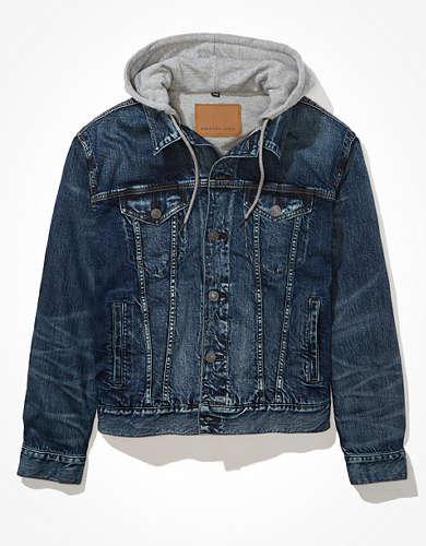 Джинсовая куртка с капюшоном AE