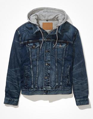 AE Hooded Denim Jacket