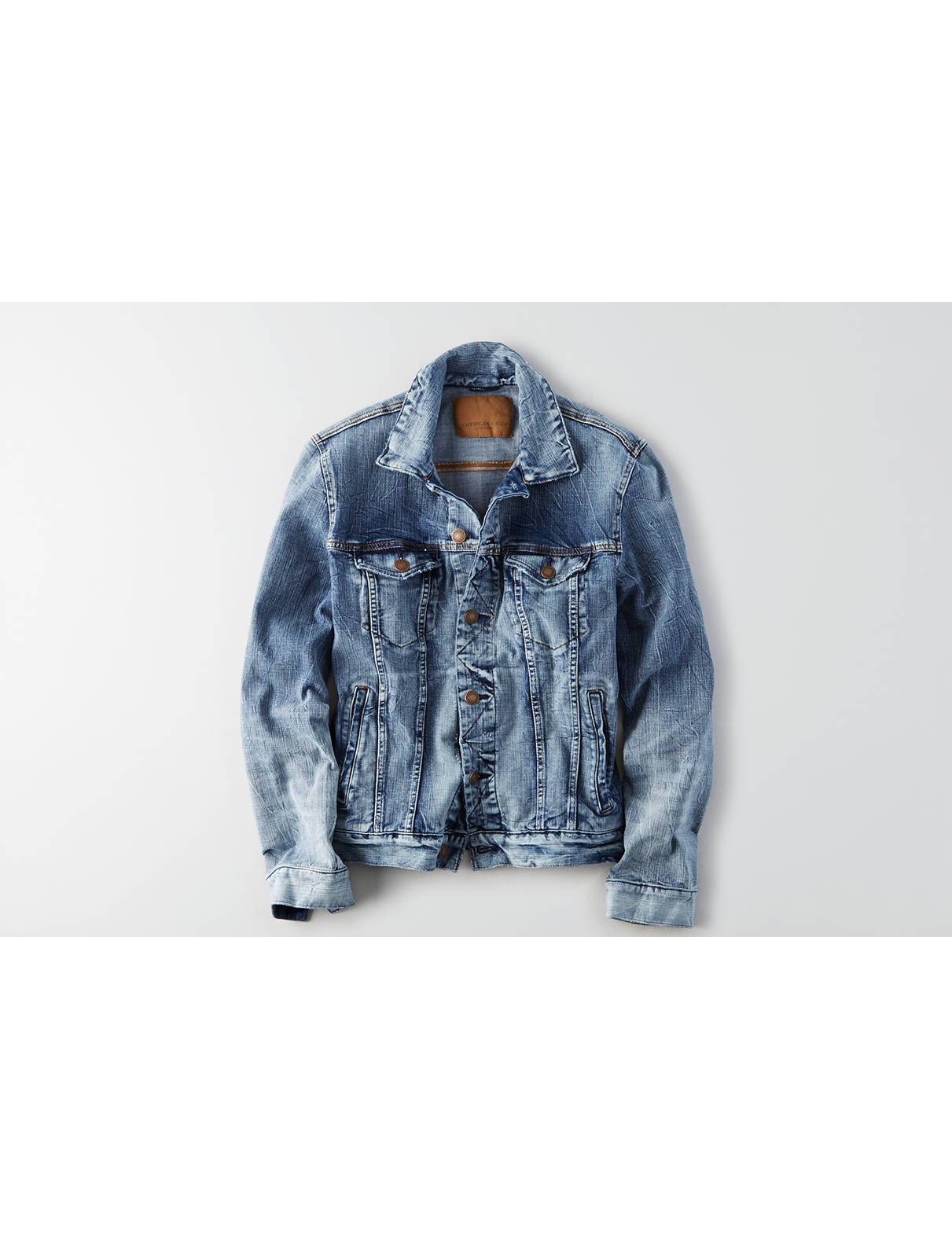 Display product reviews for AE 360 Extreme Flex Denim Jacket