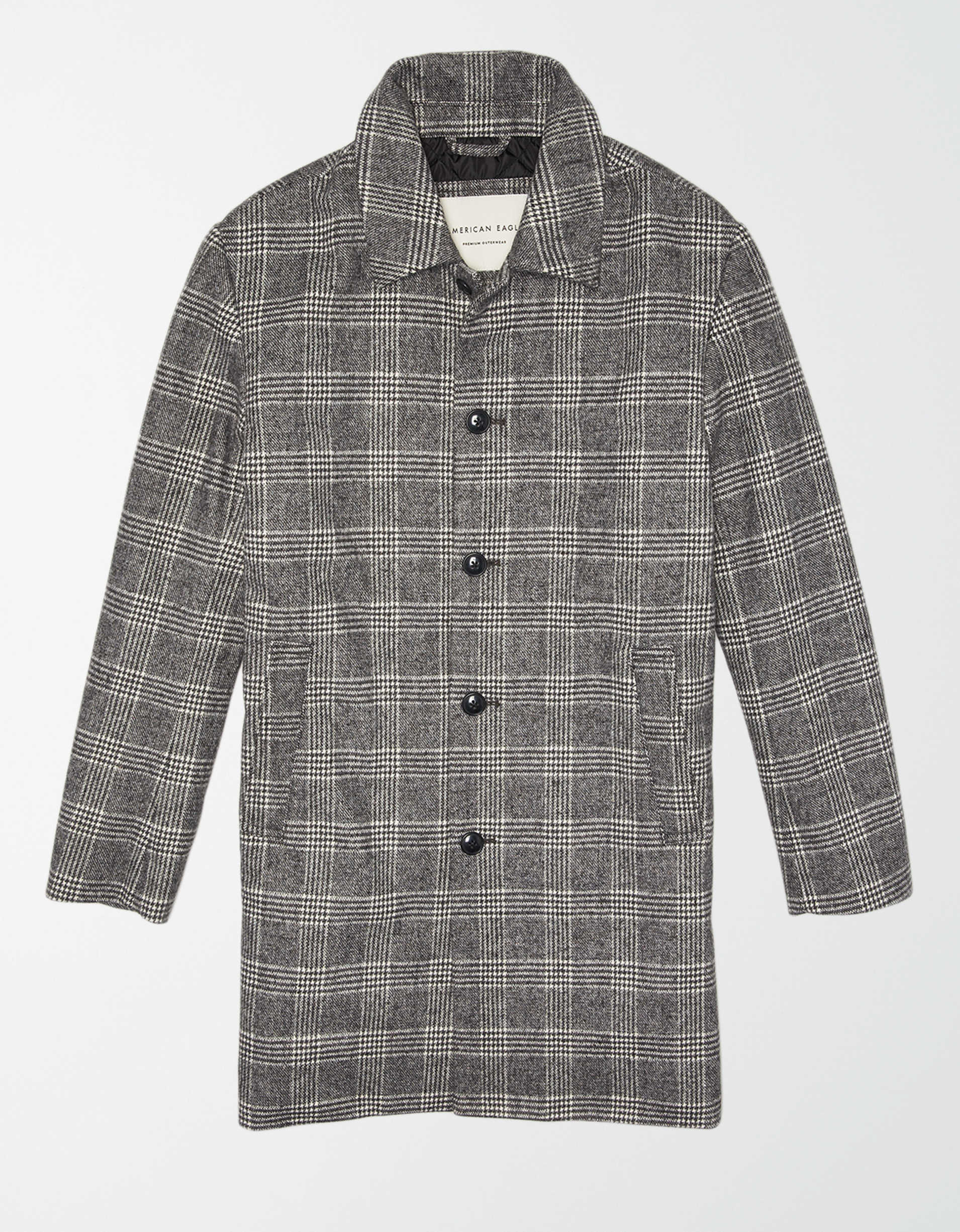 AE Plaid Topcoat