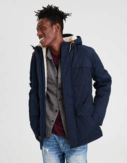 Ae Sherpa Lined Parka by American Eagle Outfitters