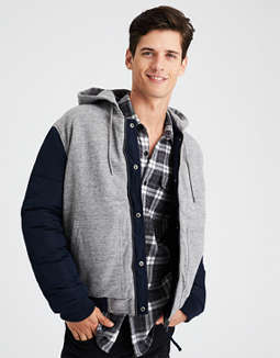 Ae Reversible Hooded Bomber Jacket by American Eagle Outfitters