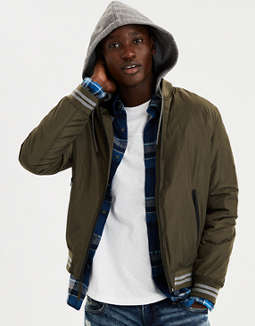 Ae Hooded Bomber Jacket by American Eagle Outfitters