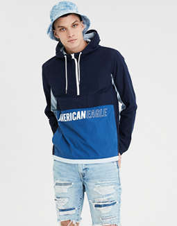 Ae Graphic Colorblock Windbreaker by American Eagle Outfitters