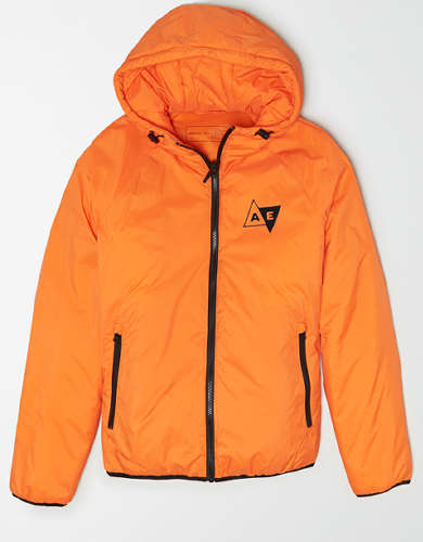 AE Lightweight Hooded Puffer Jacket