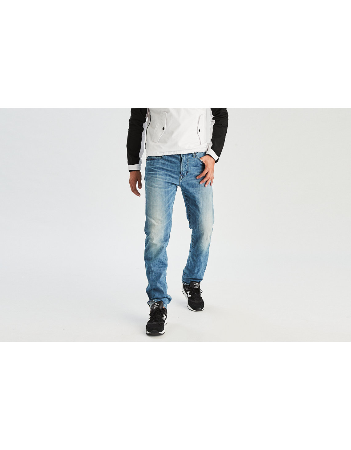 AE 360 Extreme Flex Relaxed Straight Jean. Placeholder image. Product Image