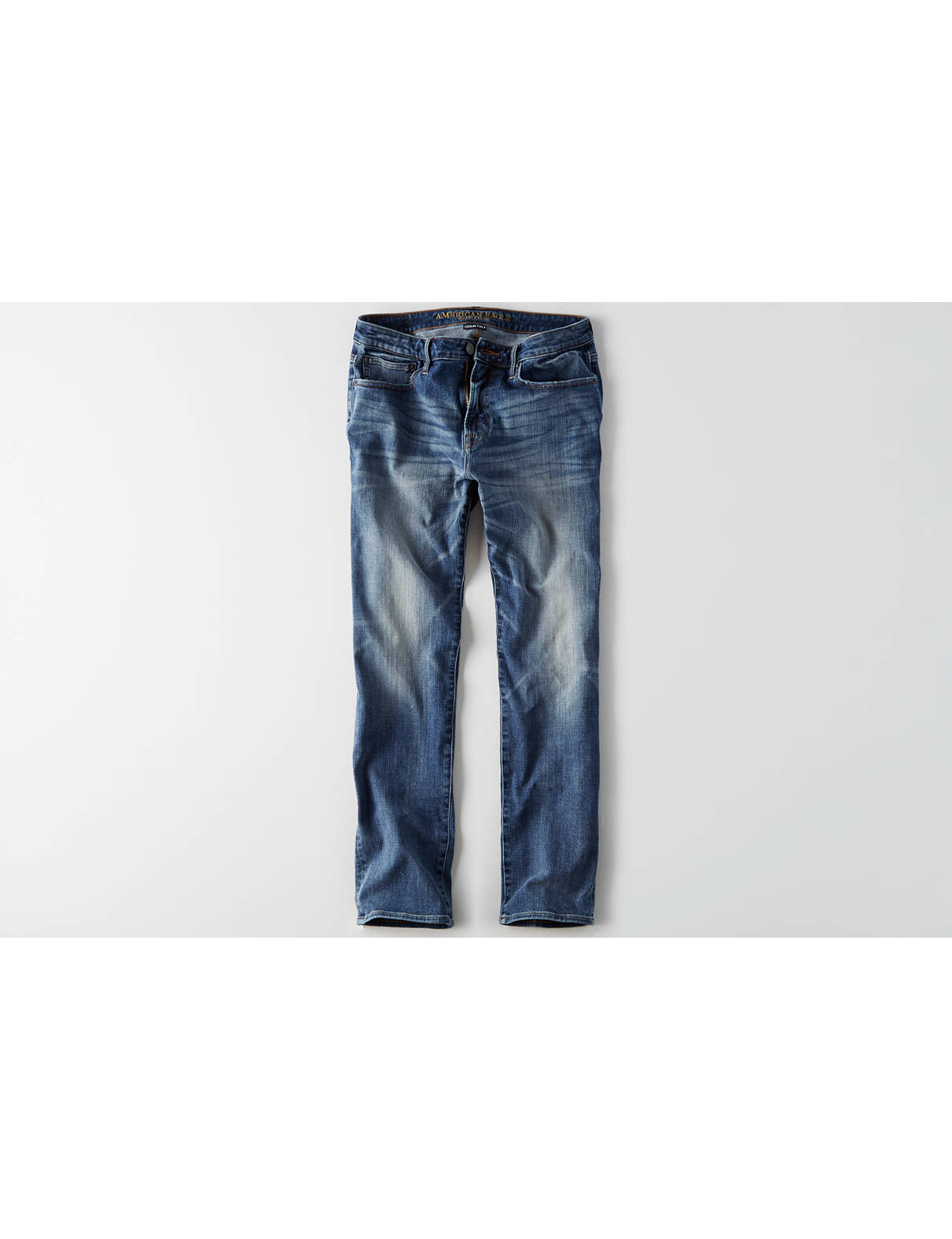 Display product reviews for AE 360 Extreme Flex Relaxed Straight Jean