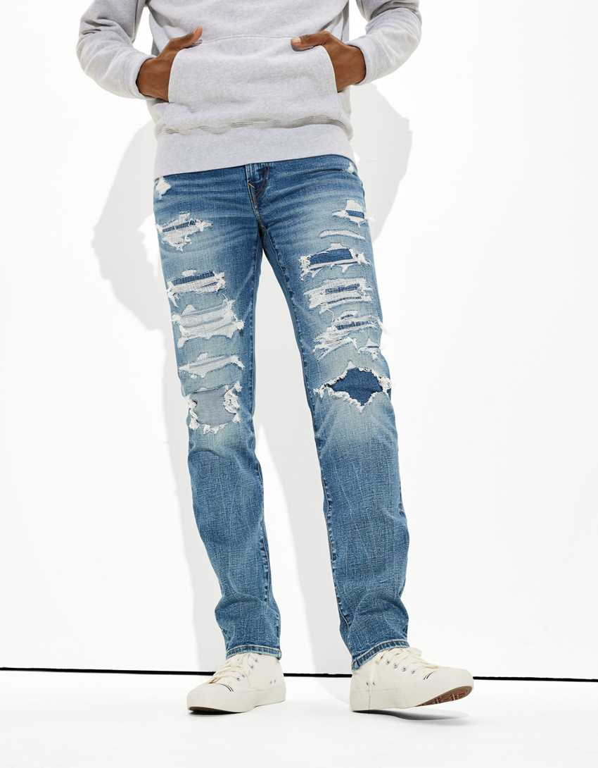 AE AirFlex+ Patched Slim Straight Jean