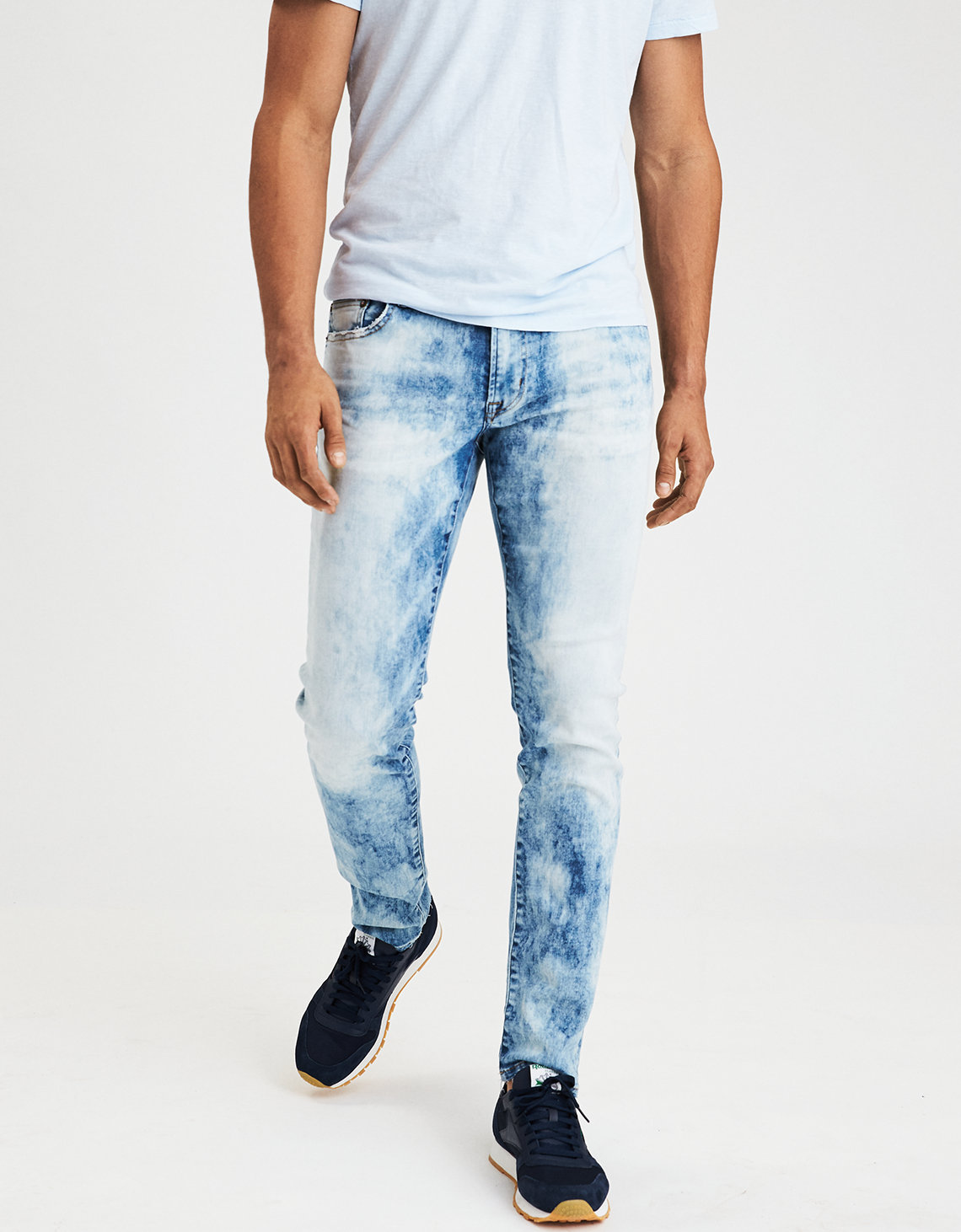 Ae Ne X T Level Slim Jean Acid Wash American Eagle Outfitters
