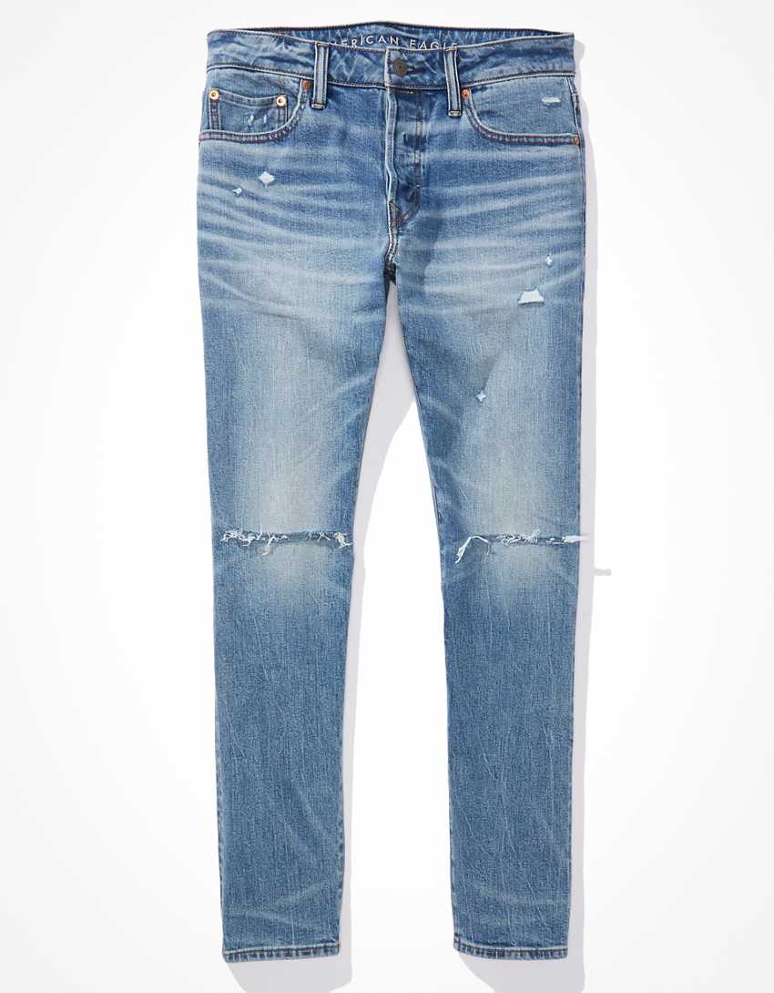 AE Flex Selvedge Ripped Slim Jean
