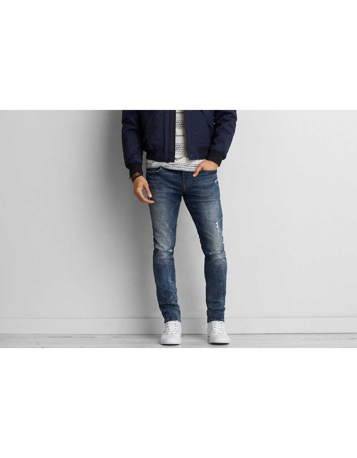 AE 360 Extreme Flex Skinny Jean - Stretch Cotton Skinny Jean American Eagle Outfitters