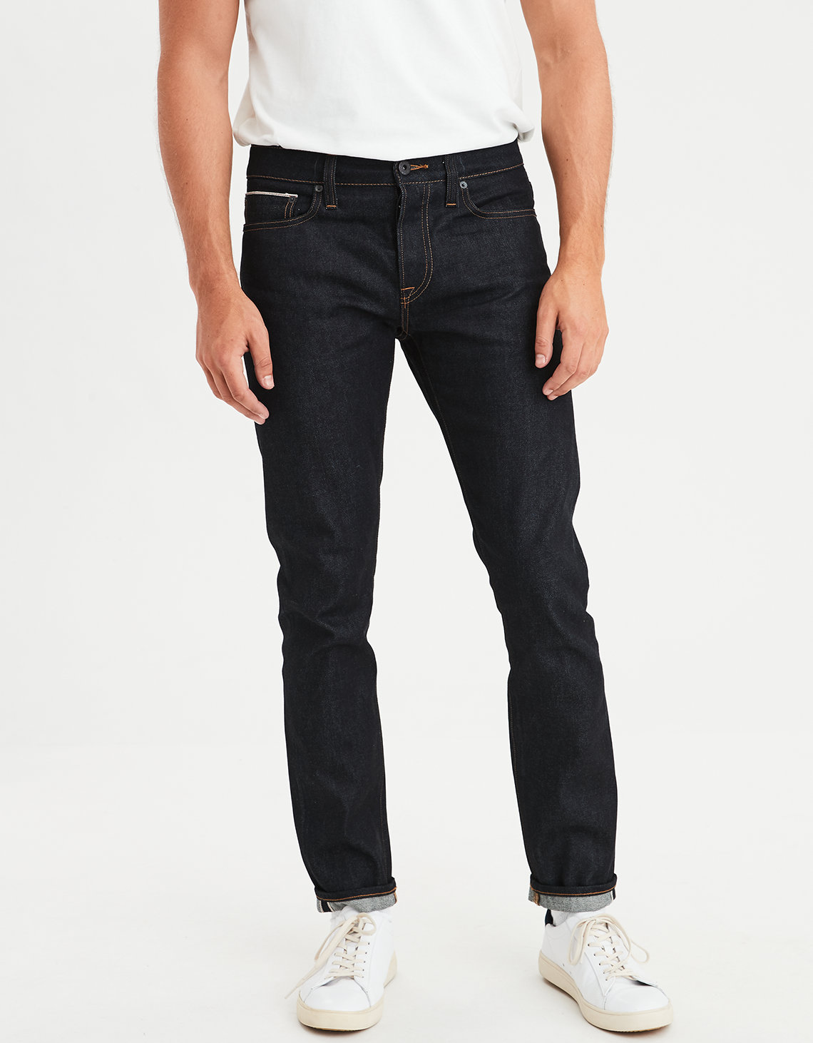 Ae Skinny Selvedge Raw Jean Raw American Eagle Outfitters