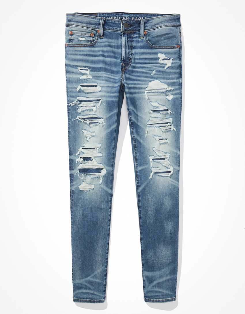 AE AirFlex 360 Patched Skinny Jean