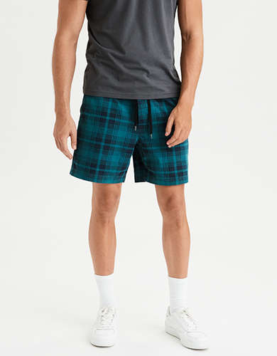 AE Ne(X)t Level Plaid Jogger Short