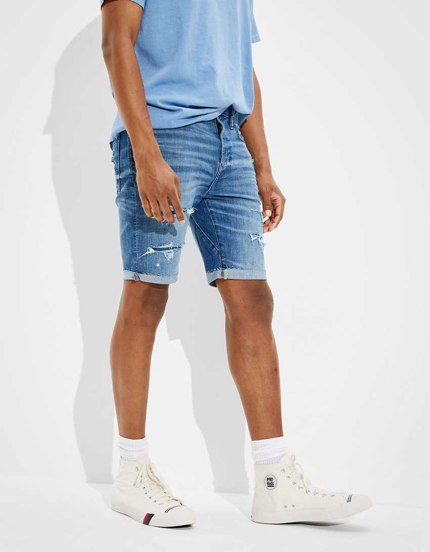 AE AirFlex+ Move-Free Patched Denim Short