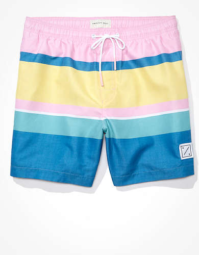 "AE 6"" Stripe Swim Trunk"