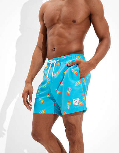 "AE 6"" Pride Poolside Popsicle Print Swim Trunk"