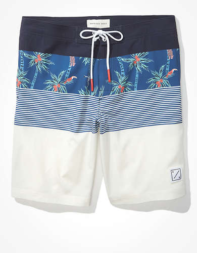 "AE 10"" Tropical Color-Block Classic Board Short"