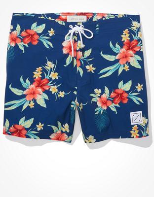 Пляжные шорты в цветочной расцветке AE (длина 15 см)