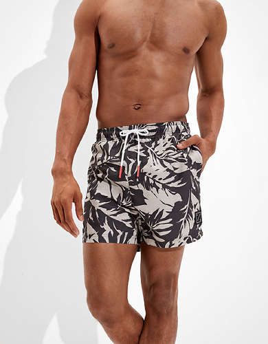 "AE 5"" Floral Swim Trunk"