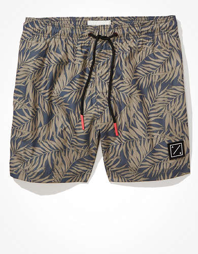 "AE 5"" Palm Swim Trunk"