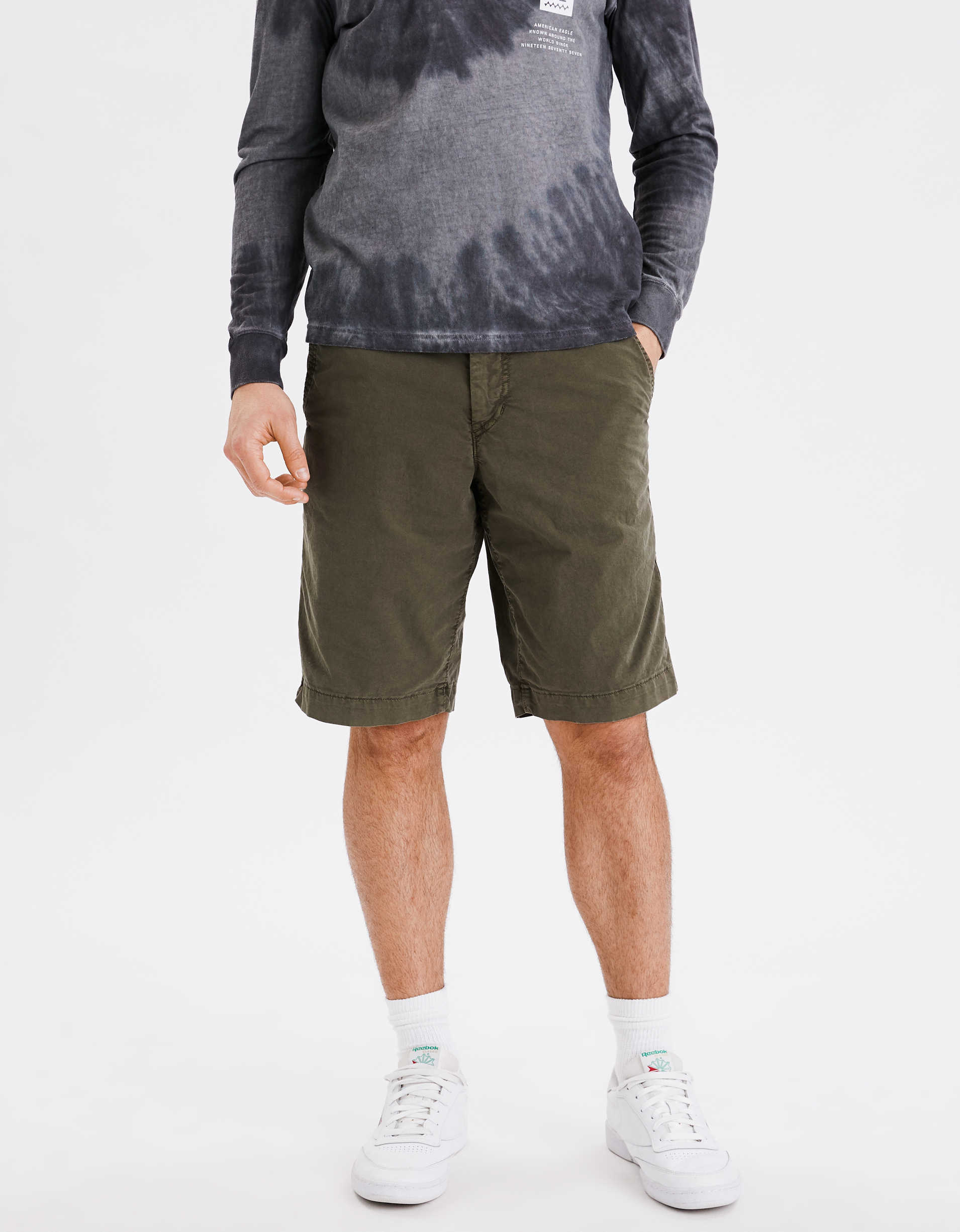 "AE Ne(x)t Level Longer Length 12"" Khaki Short"