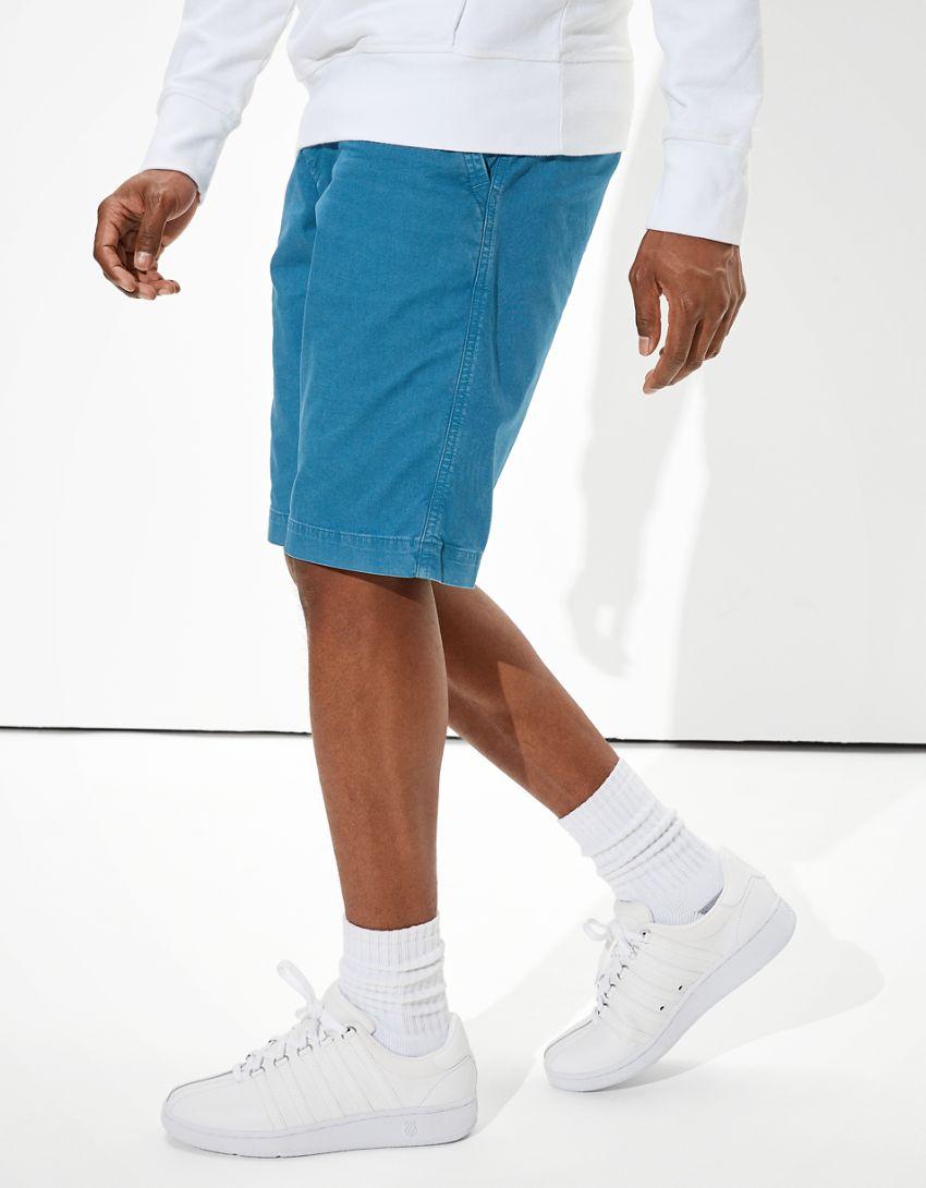 AE Flex Longer Length Khaki Short
