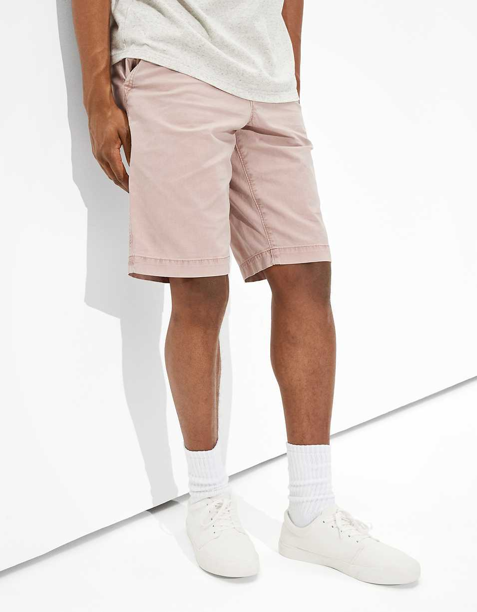 AE Flex Longer Length Khaki Short