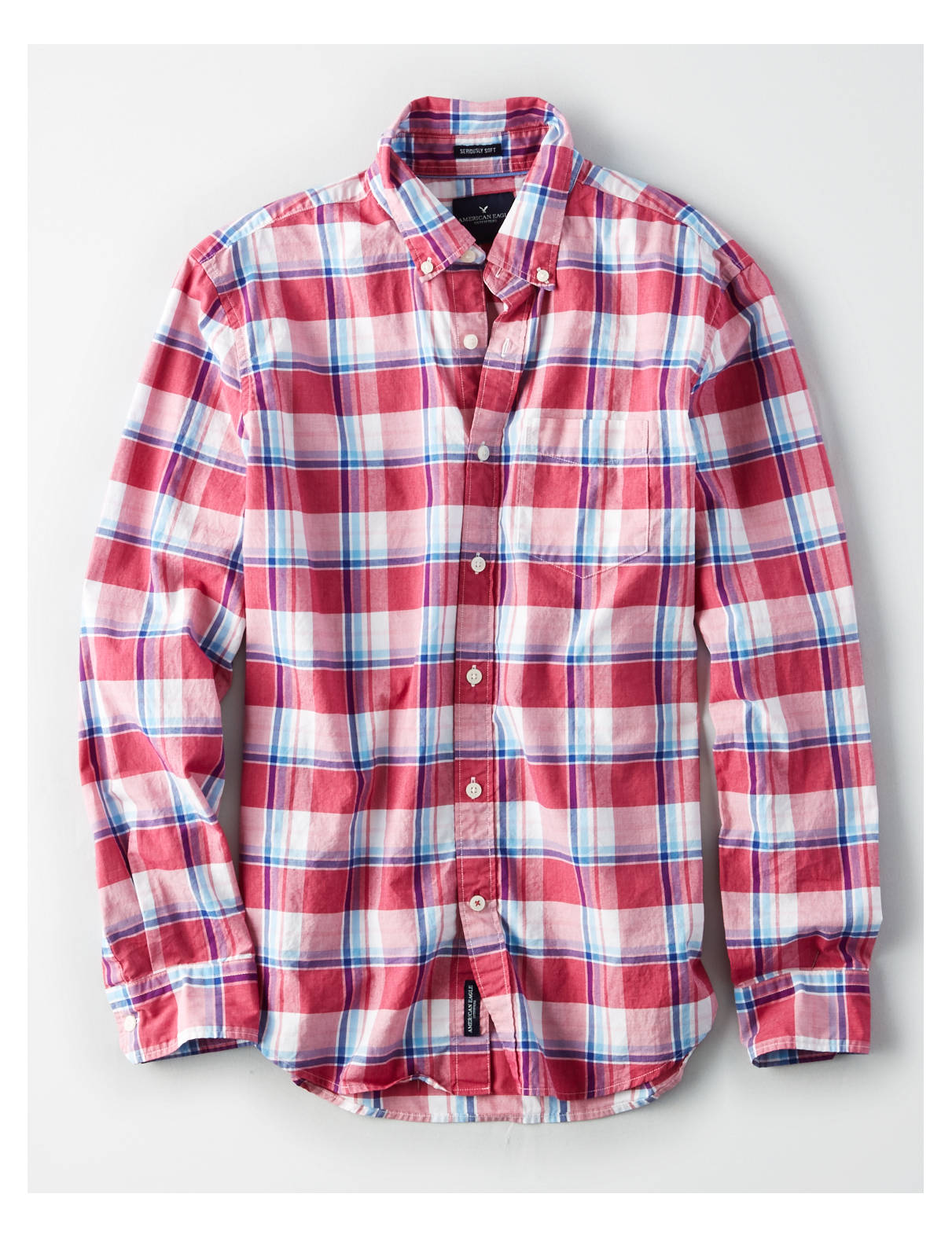 Display product reviews for AE CLASSIC PLAID BUTTON-DOWN POPLIN SHIRT