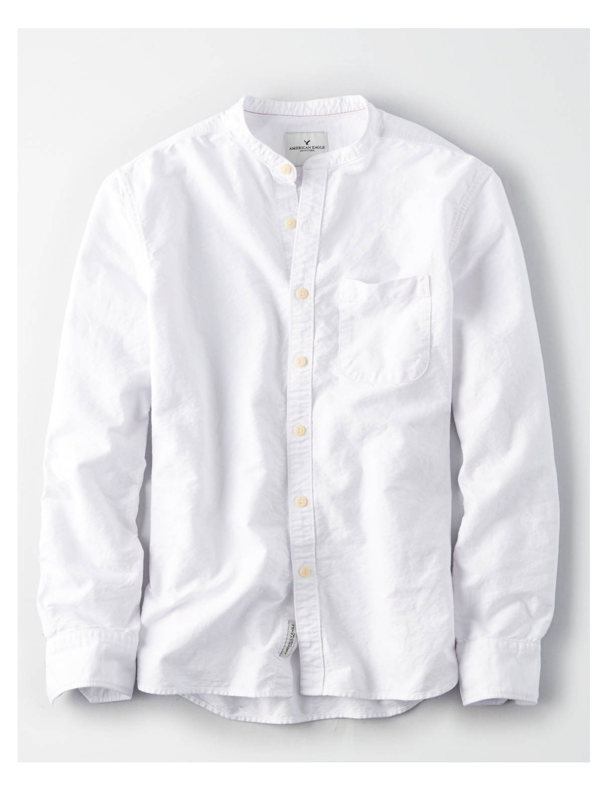 Display product reviews for AE BANDED COLLAR BUTTON-DOWN OXFORD SHIRT