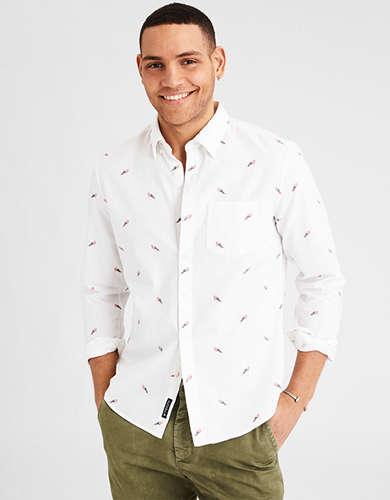 AE Classic Printed Button-Down Oxford Shirt