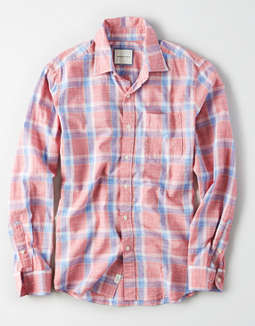 AE Cotton Slub Button Up Shirt