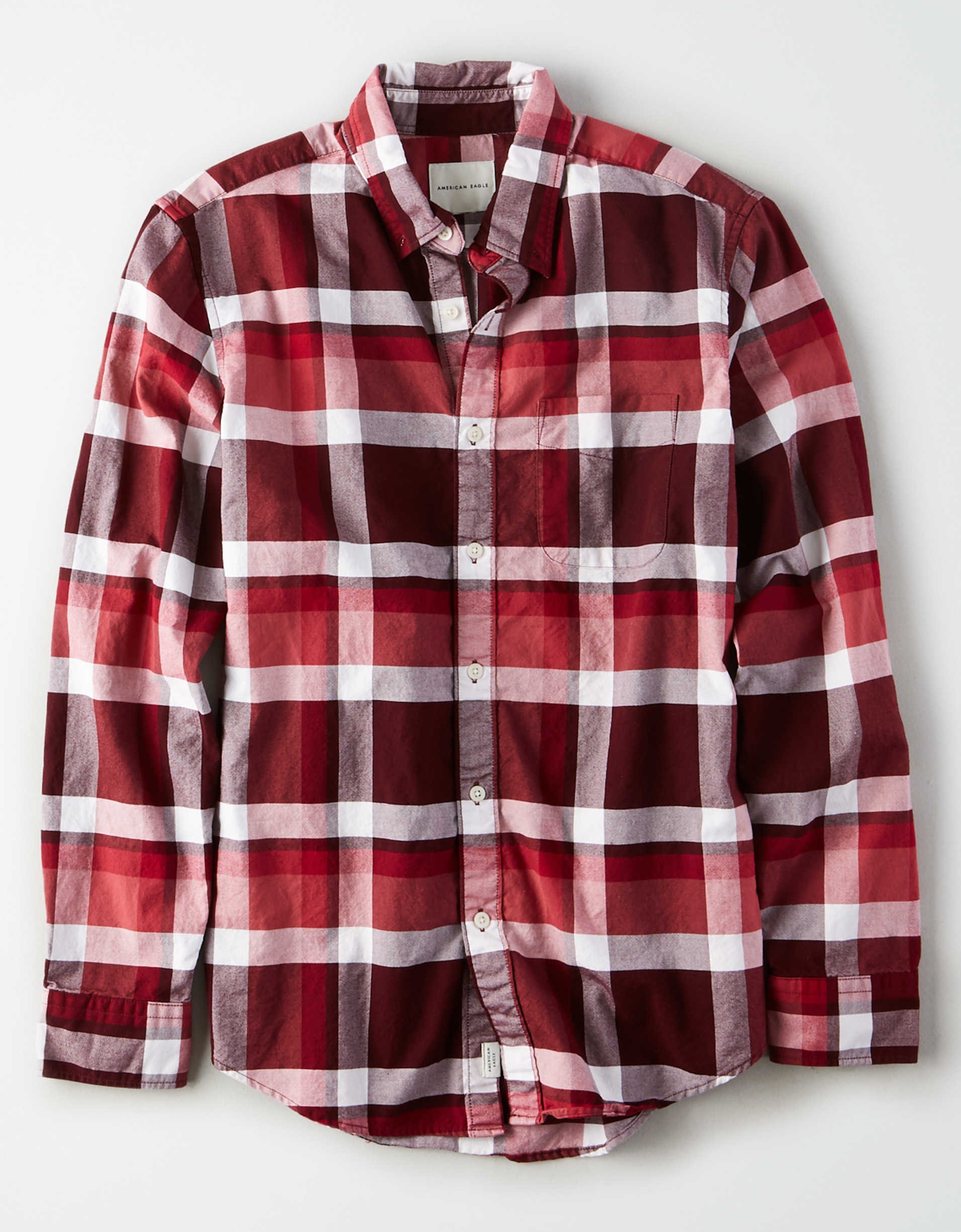 AE Oxford Plaid Button Up Shirt