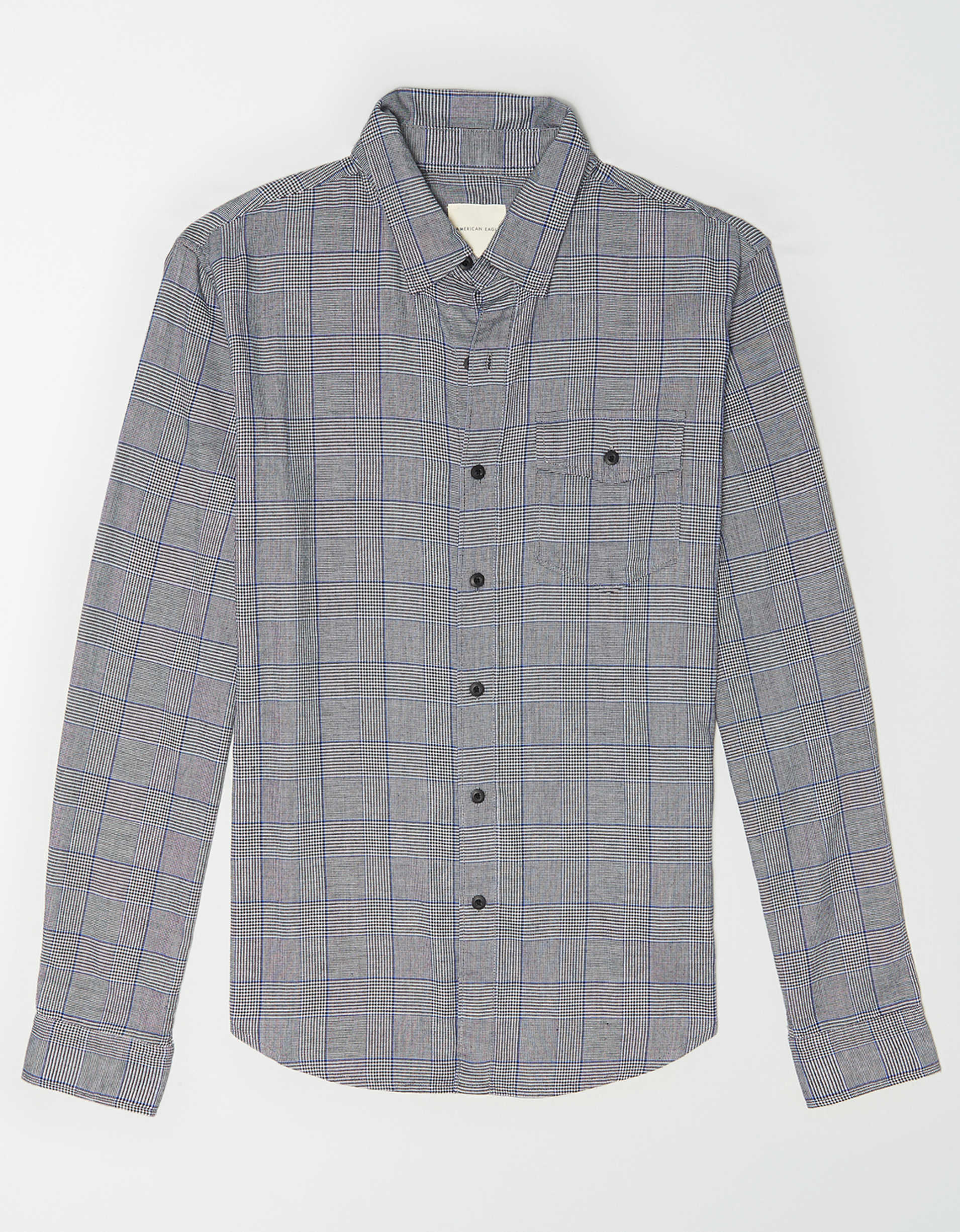 AE Brushed Twill Plaid Button Up Shirt