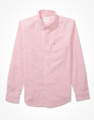 Полосатая рубашка на пуговицах из ткани оксфорд AE