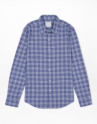 Клетчатая приталенная рубашка на пуговицах AE