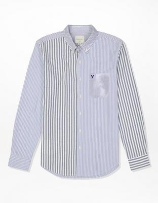 Клетчатая поплиновая рубашка на пуговицах AE