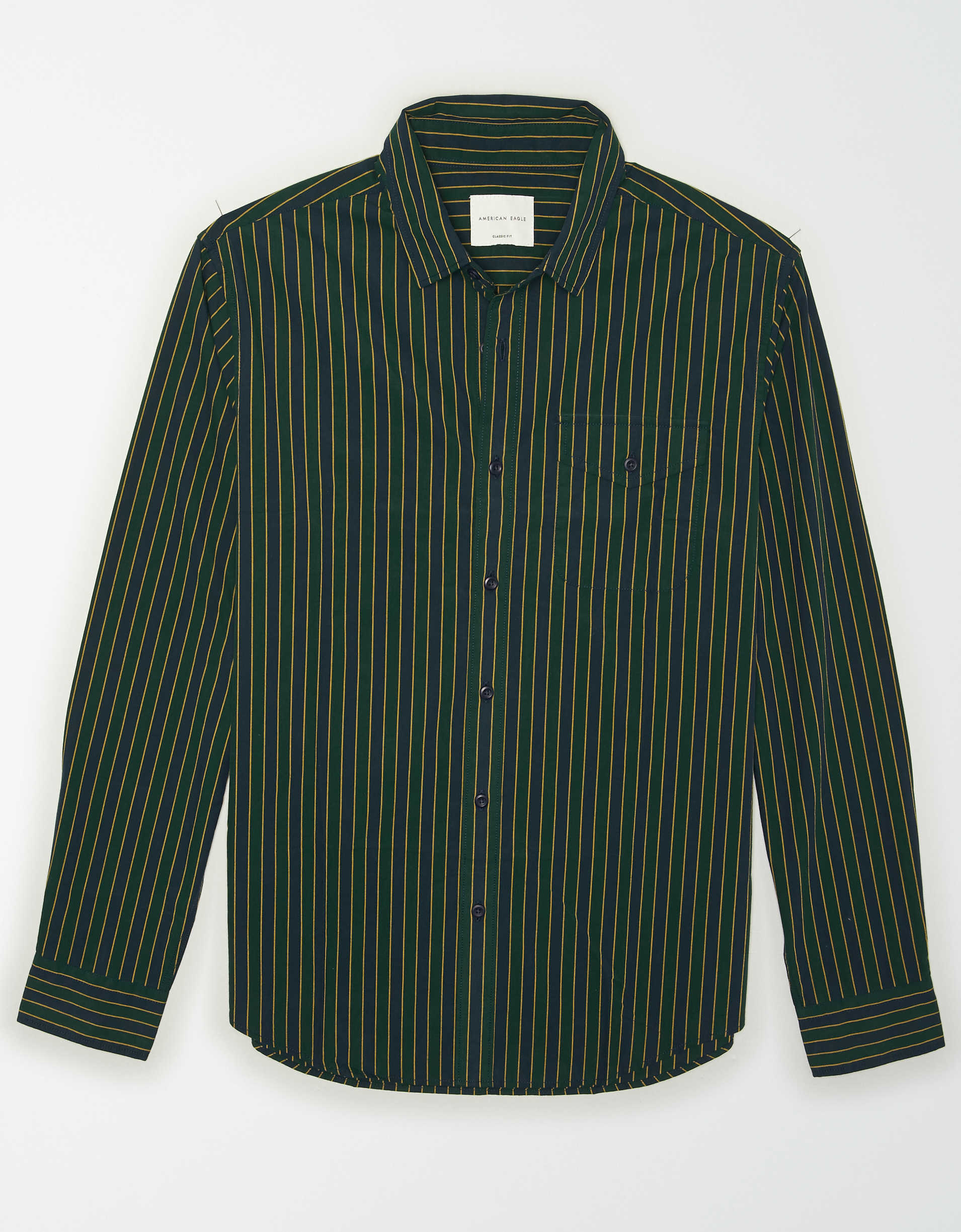 AE Striped Poplin Button Up Shirt