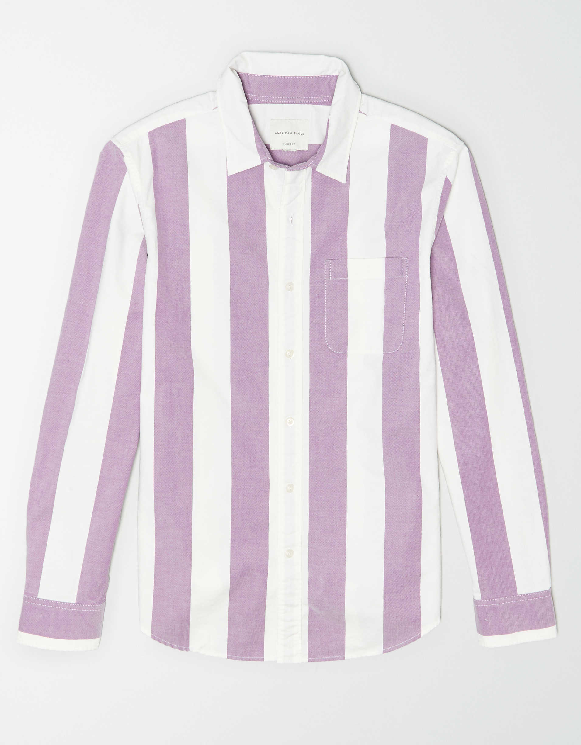 AE Striped Oxford Button Up Shirt