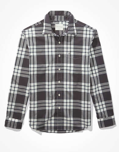 AE Plaid Button-Up Shirt