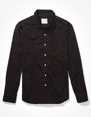 AE Printed Button-Up Shirt