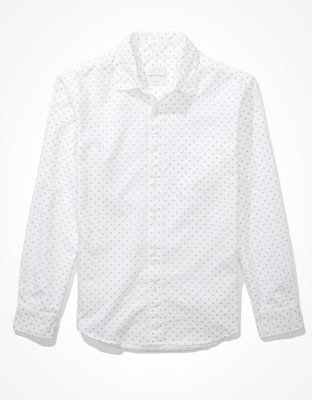 AE Printed Oxford Button-Up Shirt | American Eagle