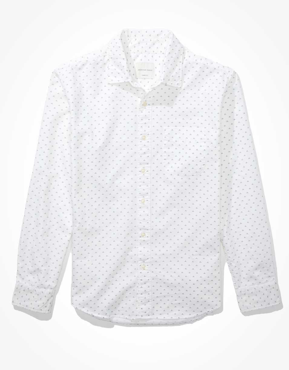 AE Printed Oxford Button-Up Shirt