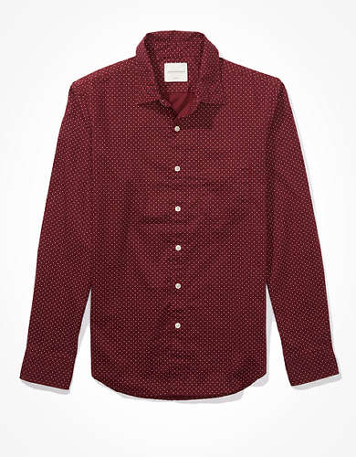 AE Slim Fit Printed Poplin Button-Up Shirt