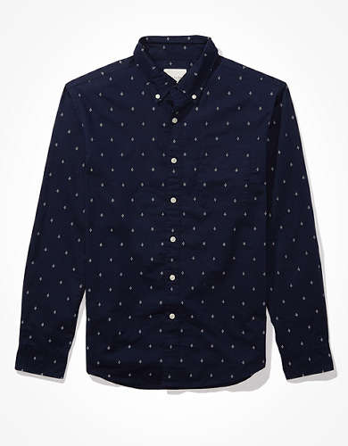 AE Printed Poplin Button Up Shirt